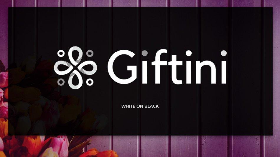GIFTINI Online Shopping - White on black